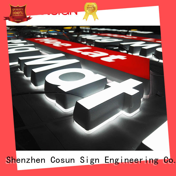 COSUN Top backlit acrylic signs for shop