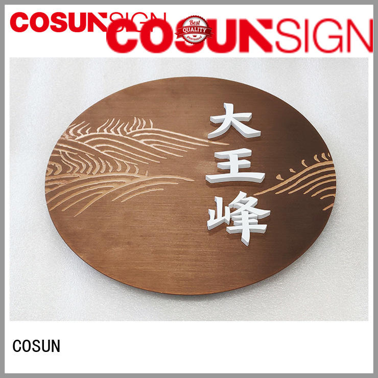 COSUN New outside signs for business manufacturers house decoration