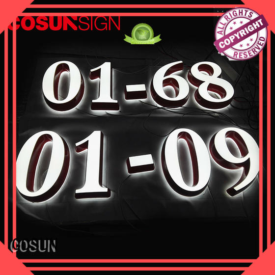 COSUN Best l shaped sign holder for restaurant