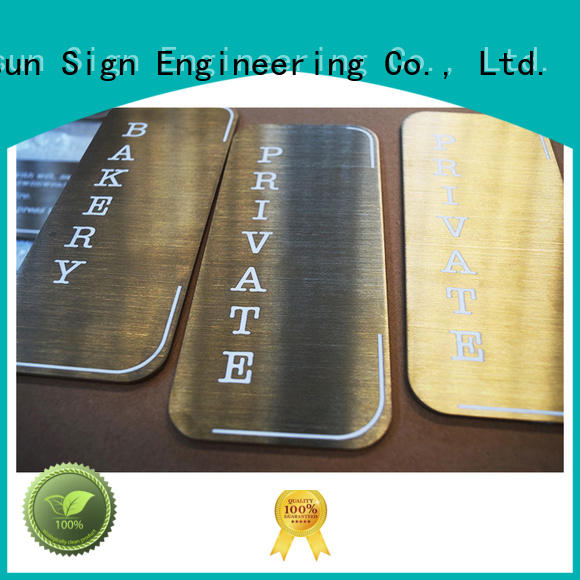 High-quality outside door number plaques stainless steel factory for wholesale
