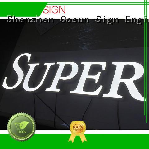 COSUN Custom acrylic signs miami for shop