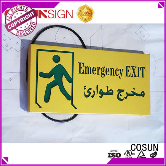 Cosun Aluminum Painted Surface Exit Light Sign