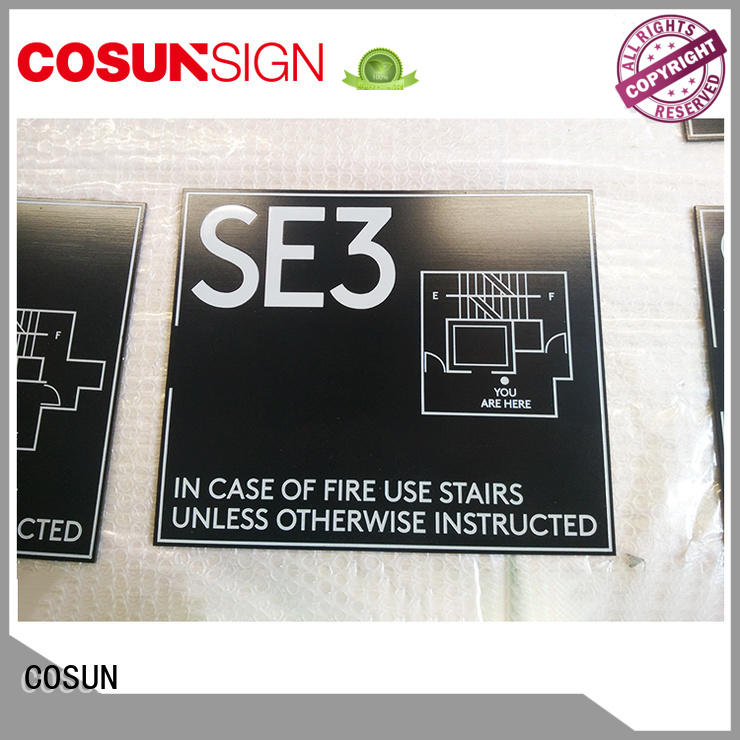 COSUN New etched door signs factory for bar