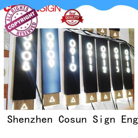COSUN Top door number wall plaques Suppliers for door