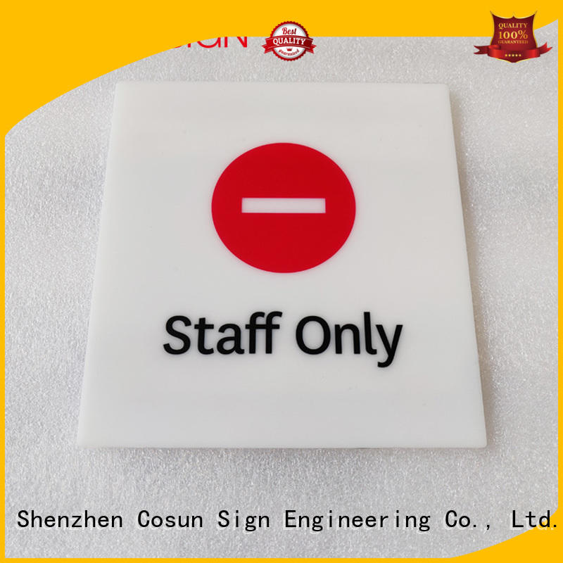 Cosun Interior Custom Design Acrylic Plate