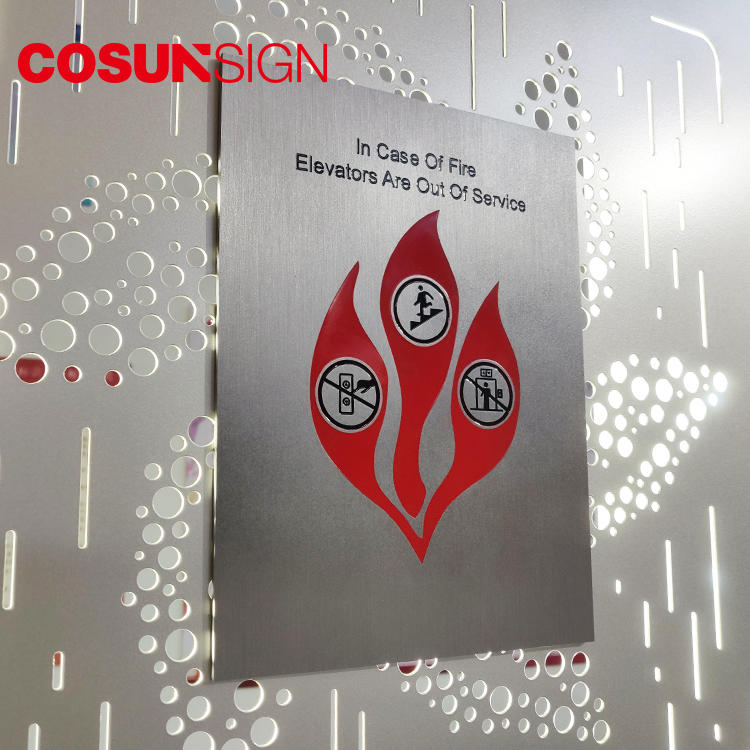 COSUN etched plastic door signs for offices Supply for warning-2