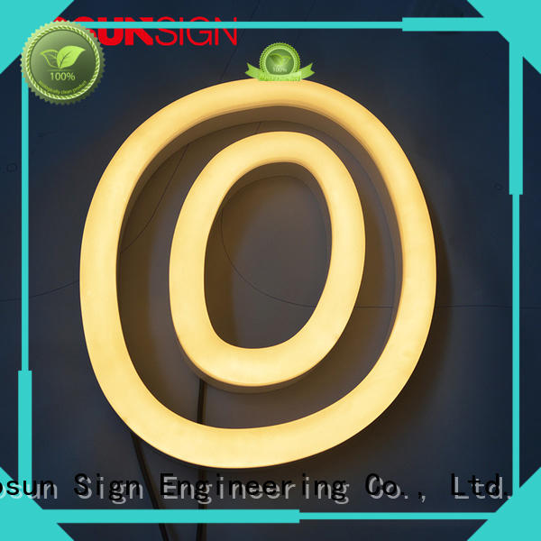 best factory price led neon signage unique for warning