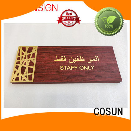 Custom interchangeable office door signs logo custom manufacturers for warning