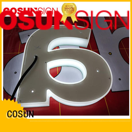 COSUN led base bespoke signs at discount inquire now