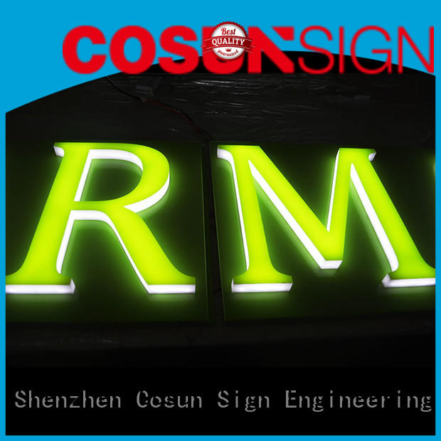 COSUN high-quality acrylic sign malaysia for shop