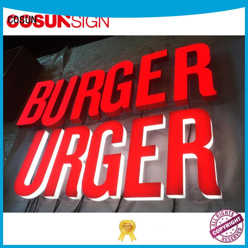 COSUN Custom waterproof sign holder factory for restaurant