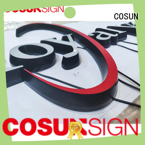 COSUN Best mounted sign holder factory for pub club