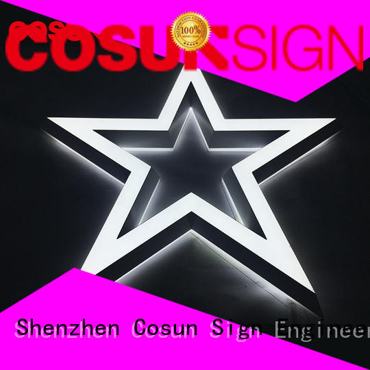 COSUN High-quality large sign holder at discount for pub club