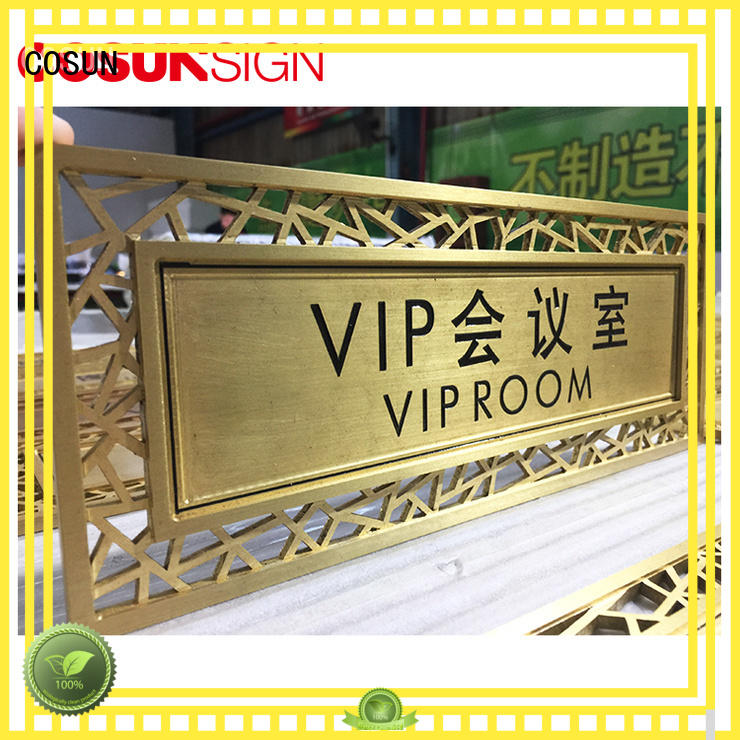 COSUN logo custom personalized room door signs factory for hotel
