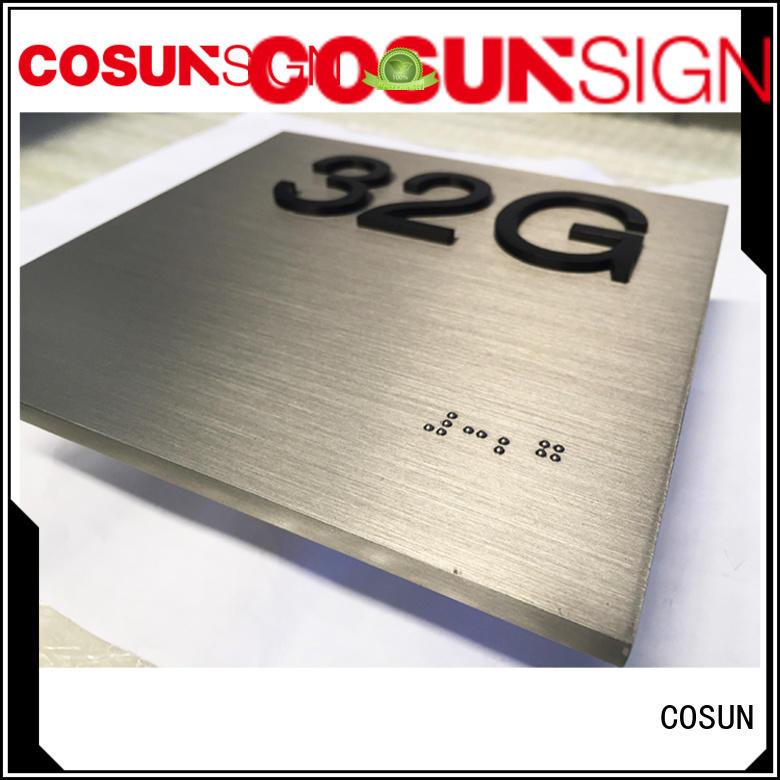 wc door sign cnc aluminum for toilet signage COSUN