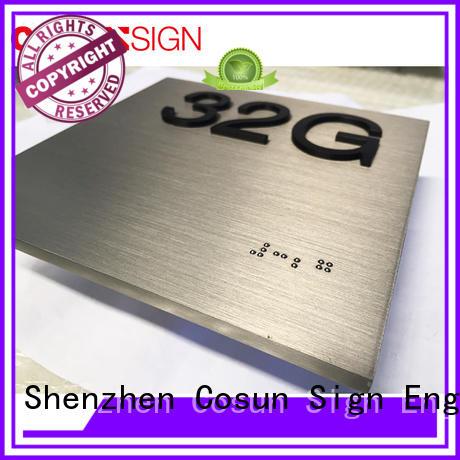 custom door signs laser cutting for warning COSUN