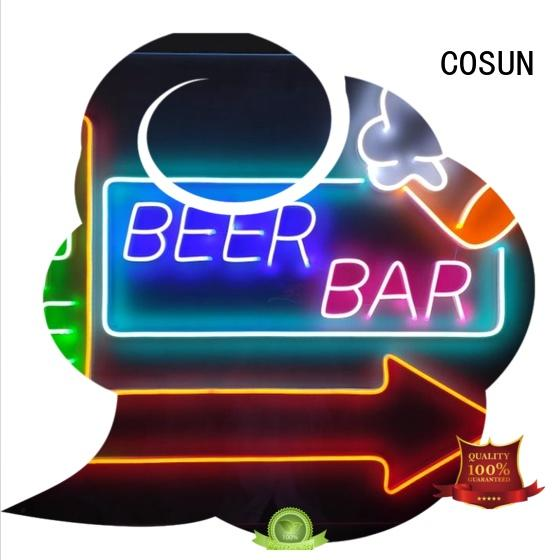 COSUN New custom light up bar signs Supply for decoration