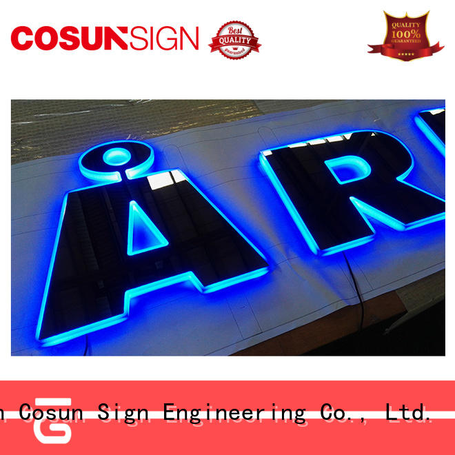 High-quality clear poster holder led base for pub club