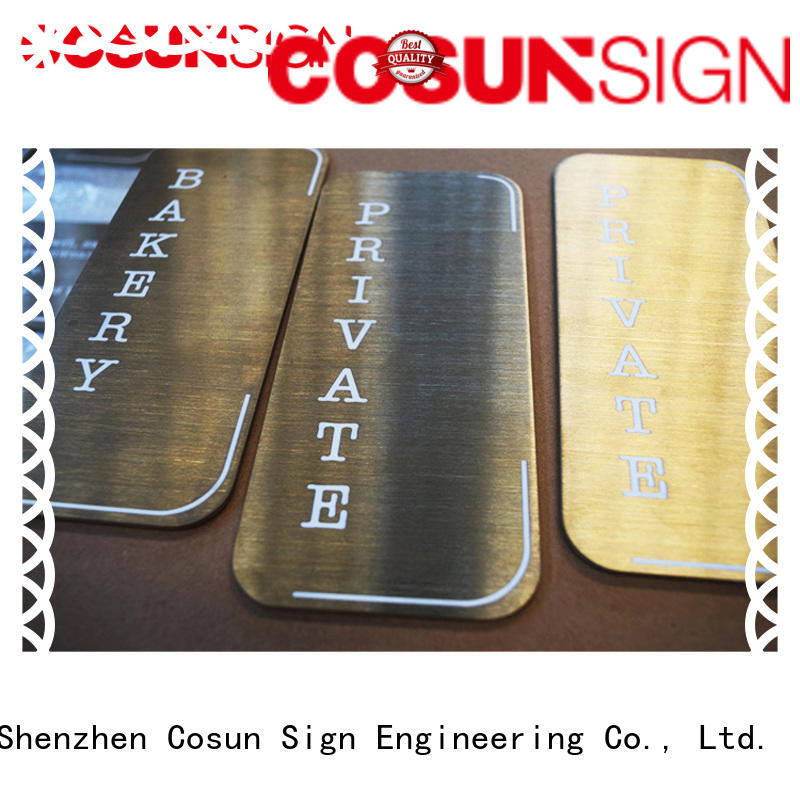 filled hotel door sign thermoforming for shop COSUN