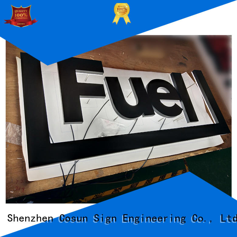 COSUN High-quality external signage free sample for restaurant