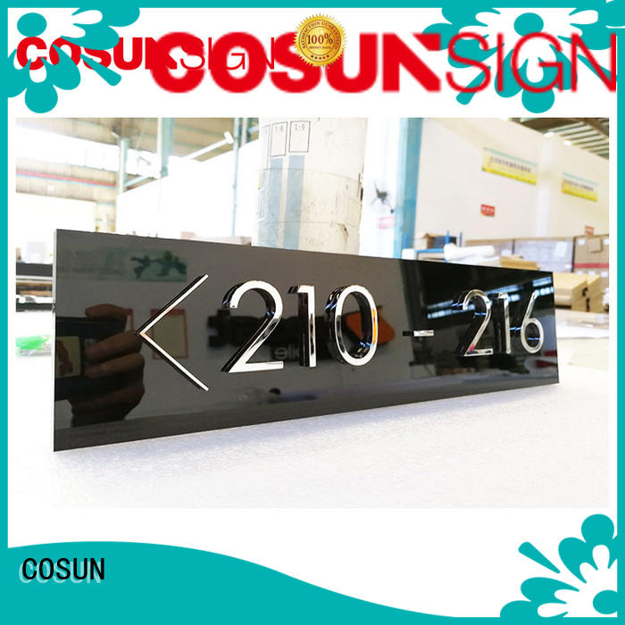 COSUN Latest sign on a door Suppliers for warning
