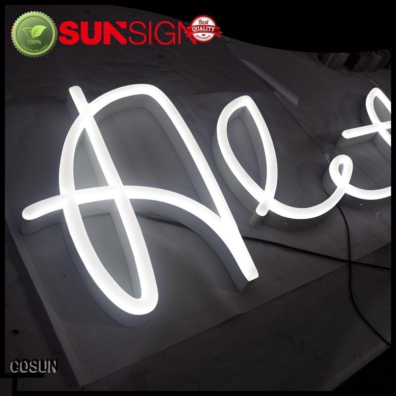COSUN Latest personalized bar signs with lights factory for decoration