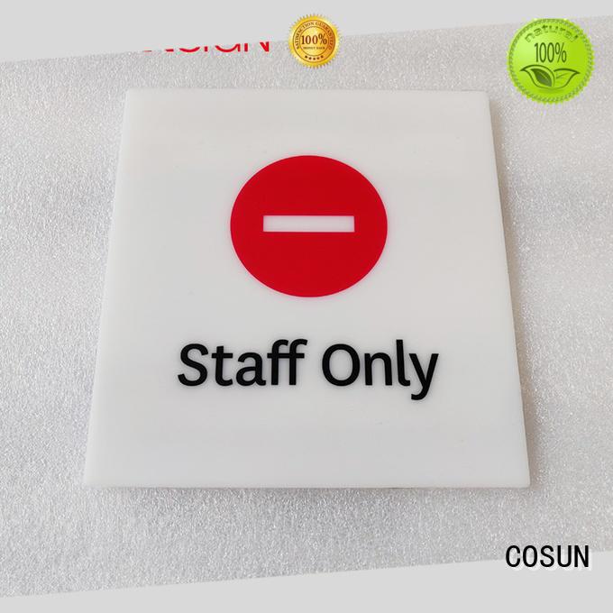 COSUN metal plate classroom door sign for wholesale