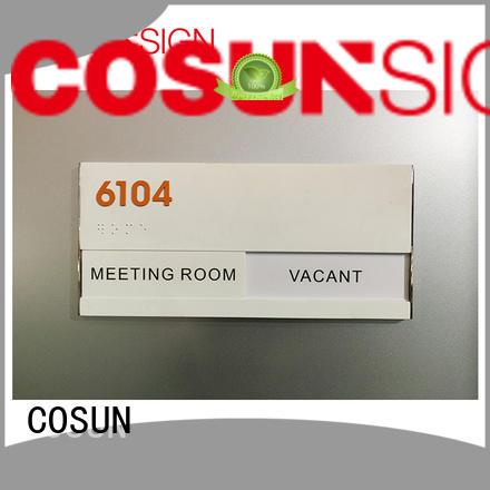 COSUN logo custom privacy door sign factory for shop