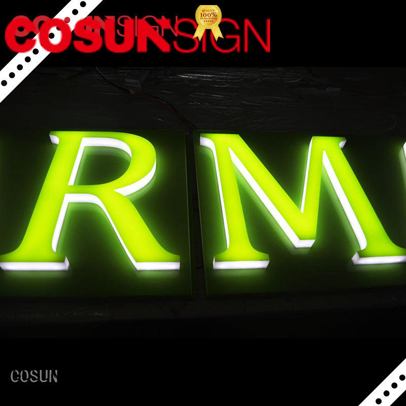 COSUN clear letter custom signs tulsa inquire now