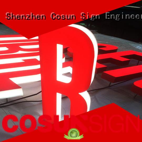 COSUN New custom plexiglass sign for shop