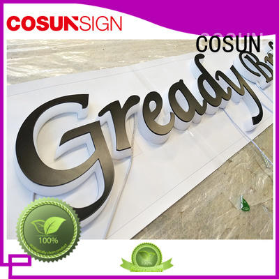 Latest clear acrylic sign high-quality company for restaurant