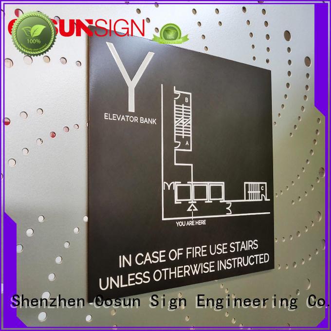 COSUN cnc aluminum aluminium door signs factory for toilet signage