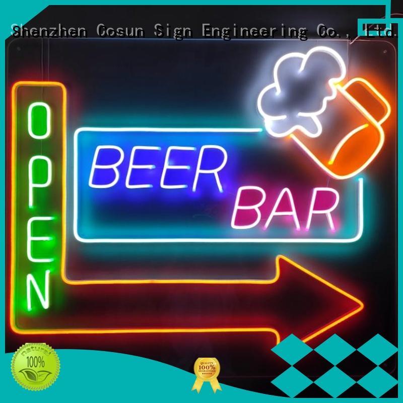 COSUN Top fluorescent light signs factory for restaurant