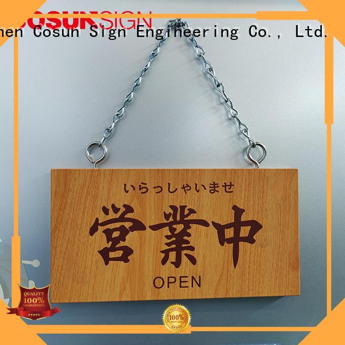 painted office door signage cnc aluminum for wholesale COSUN
