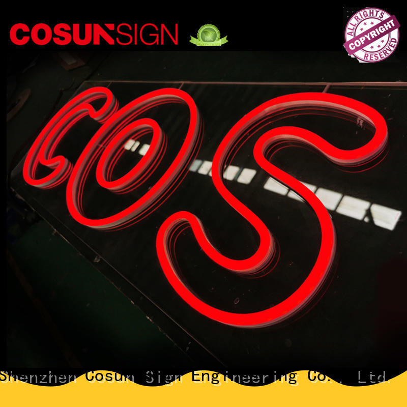COSUN eye-catching sign letters company for decoration