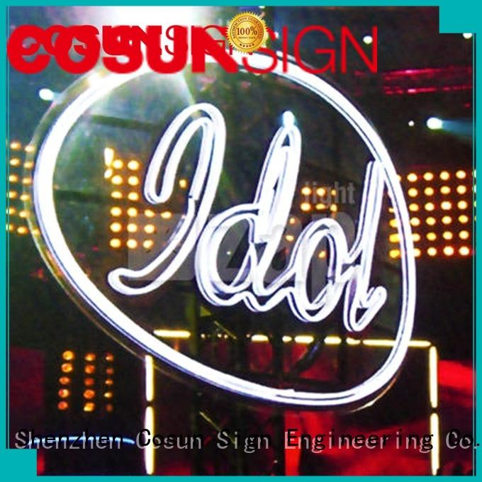 COSUN popular custom fluorescent sign for business for decoration