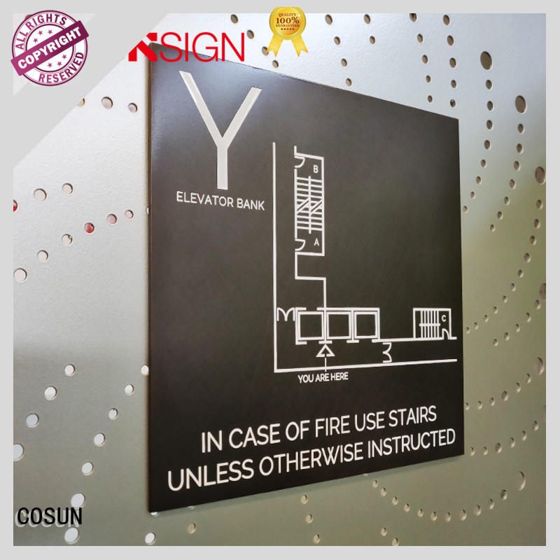 COSUN polishing magnetic office door signs Suppliers for warning