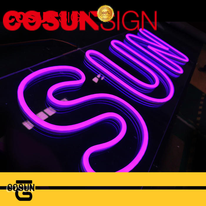 COSUN eye-catching neon sign off company for promotion