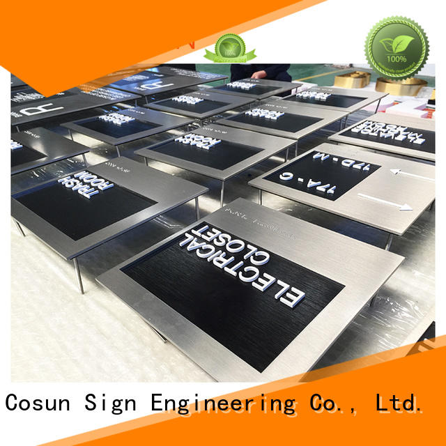 COSUN customized logo house number plate for decoration