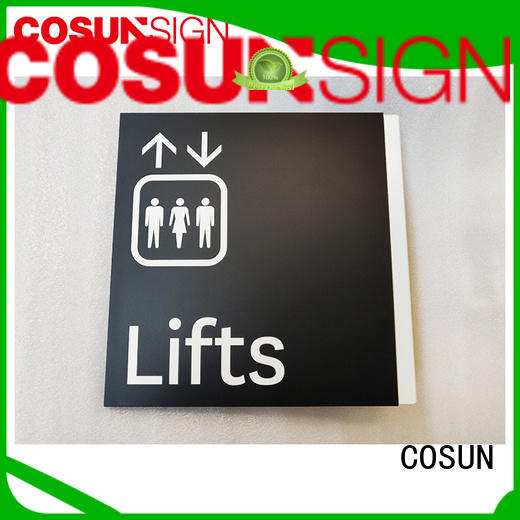 COSUN polishing custom signs calgary factory for hotel
