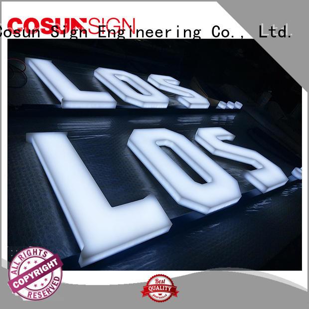 COSUN led base acrylic banner printing for shop