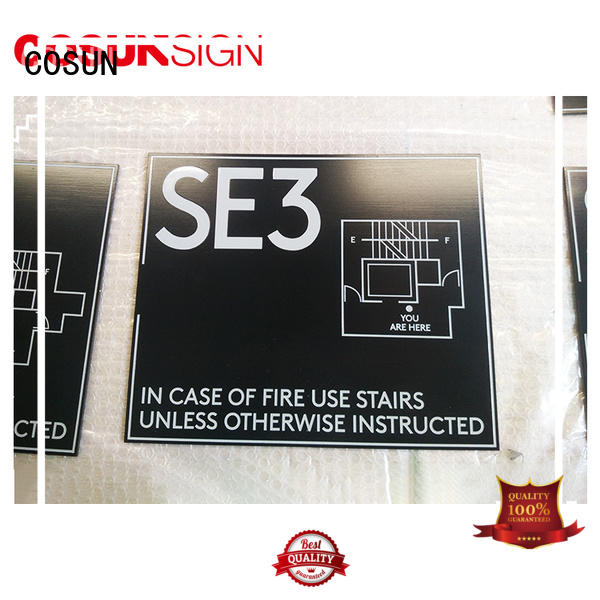 etched house number plaque laser cutting for wholesale COSUN