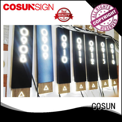 COSUN cnc aluminum personalised office door plaques Supply house decoration