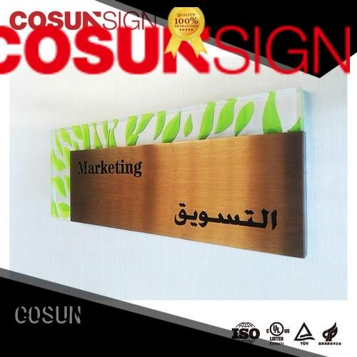 COSUN plaque hotel room number plates buy now
