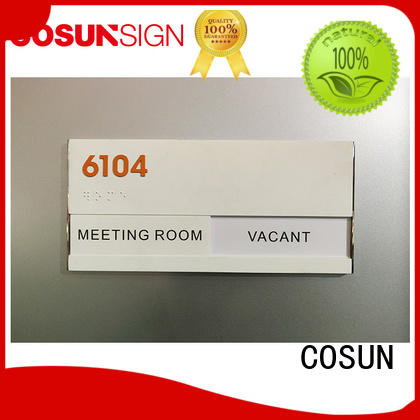New door name tags stainless steel for business for toilet signage