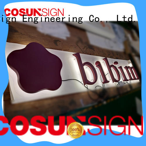 COSUN competitive price reception sign for restaurant