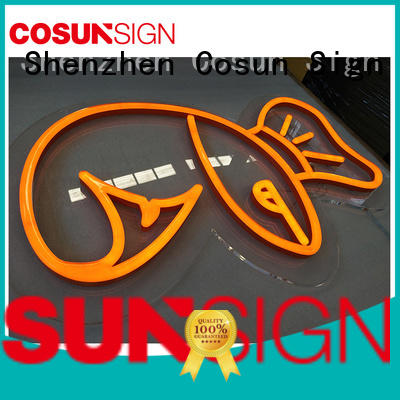 COSUN popular neon sign decor manufacturers for hotel