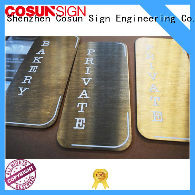 COSUN thermoforming hotel door sign for for