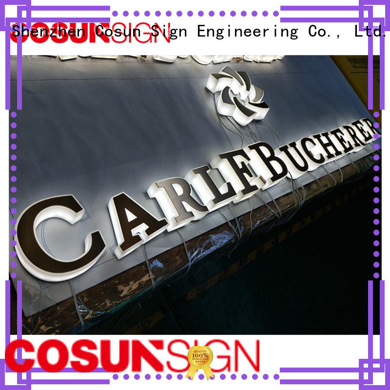 New acrylic lighted signage competitive price wholesale for pub club