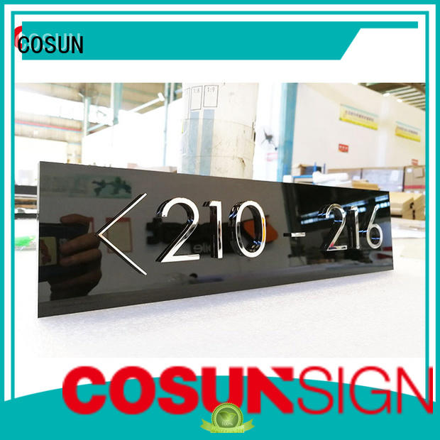COSUN painted house number plate for shop